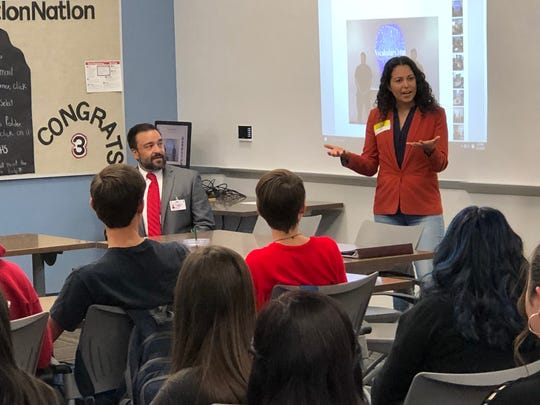 New Mexico's 2nd Congressional District woman Xochitl Torres Small toured Deming High School to catch a glimpse of its Career Technical and Educational facilities last Thursday.