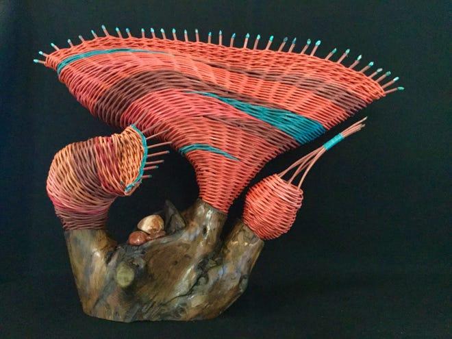 Sculptural baskery by Marilyn Hansen