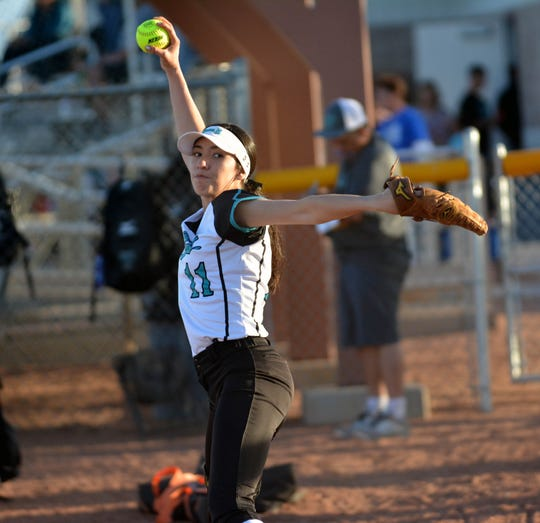 Oñate pitcher Jaileen Mancha has recovered from a knee injury to lead the Knights in the circle.