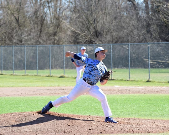 Stevenson pitcher Coltrane Rubner threw a complete game against Churchill on April 15, 2019.