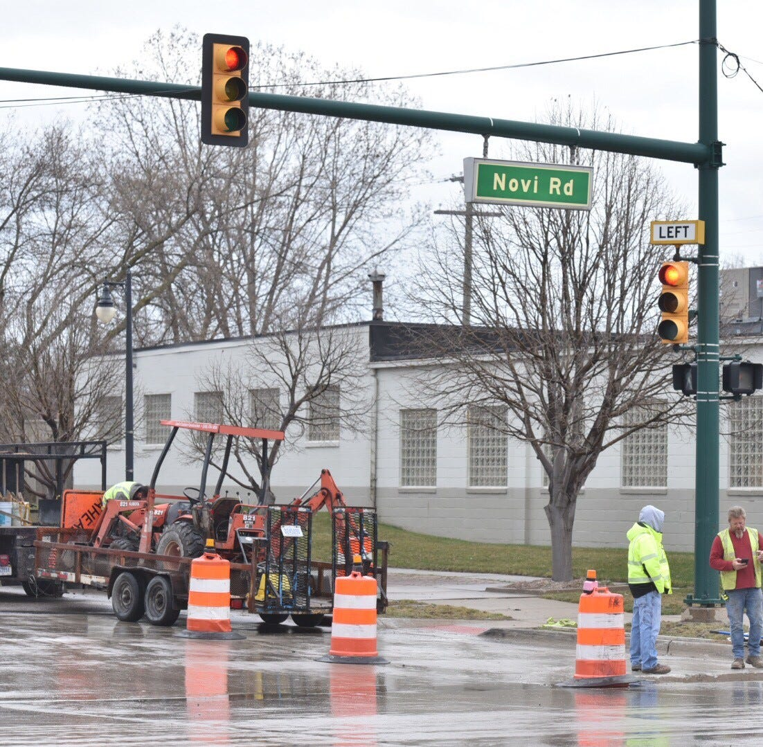Novi gas main reroute and road repaving expected to delay traffic for nearly a week