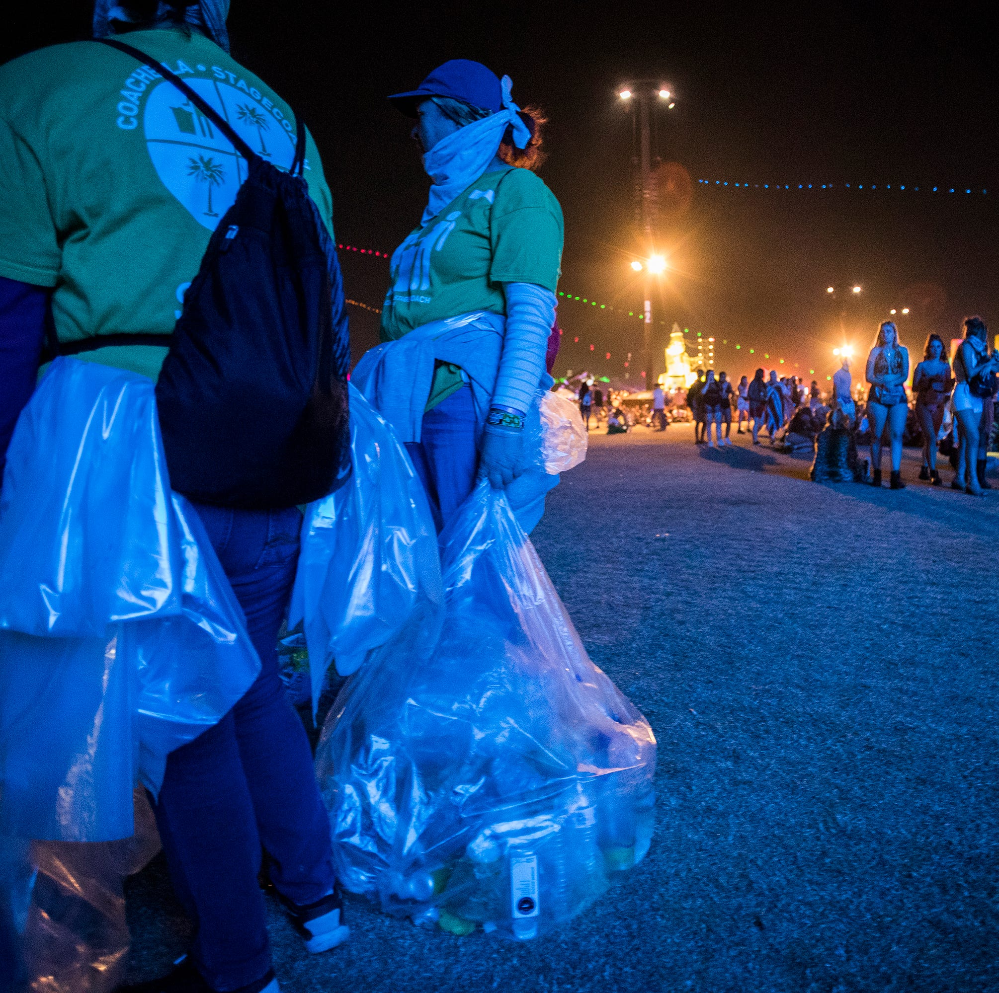 As grape industry changes, farmworkers pick up extra shifts collecting trash at Coachella festival
