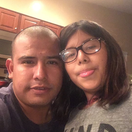 Jose Gonzalez Carranza is shown with daughter Evelyn Gonzalez Vieyra.