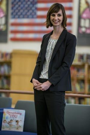 Arizona Superintendent of Public Instruction Kathy Hoffman visits students on April 4, 2019, at Mercury Mine Elementary School in Phoenix.