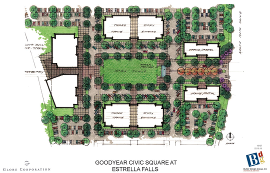 Goodyear's Civic Square will have a three-story office buildings in additional to potential retail space, a city hall and a two-acre park.