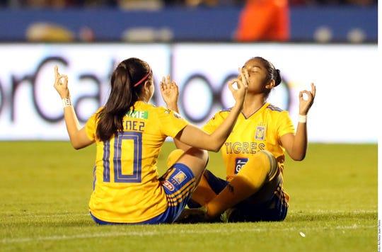 El equipo de Tigres femenil, siempre favorito.