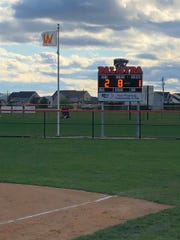 The Palmyra softball team raised another 'W' on the flag pole in right field after Monday's 2-1 8-inning win over Bishop McDevitt.