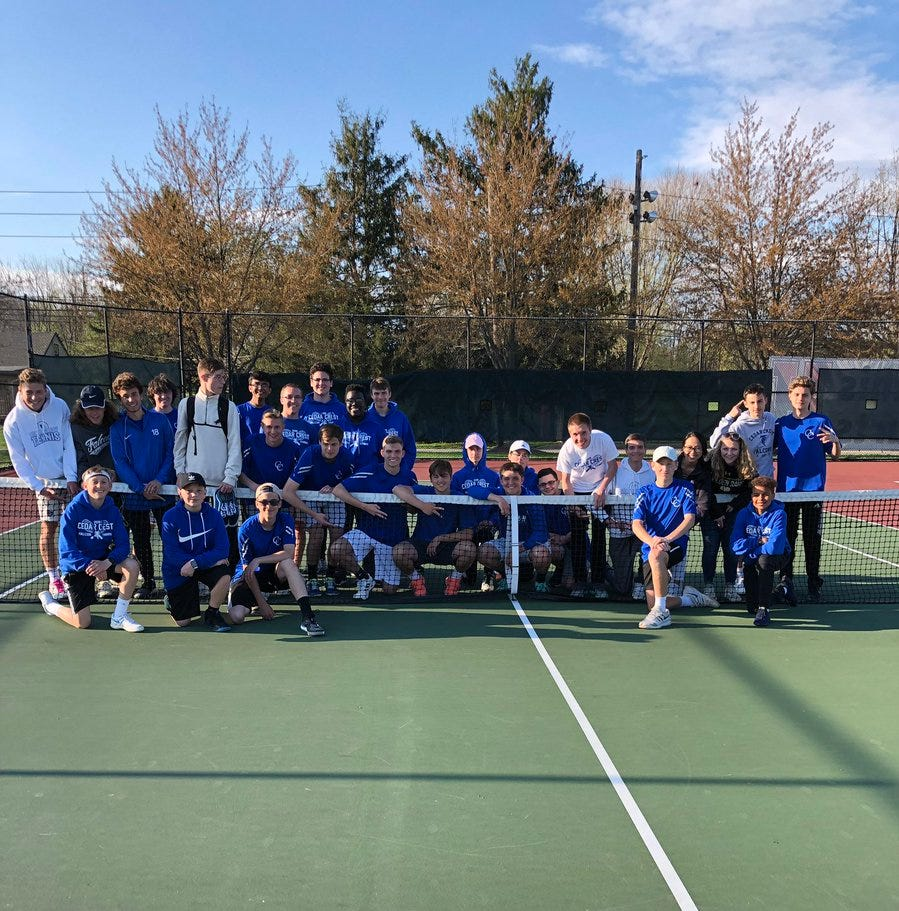Cedar Crest boys tennis ends 25-year section title drought
