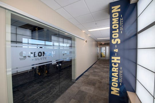 The new Monarch Suite and Solomon Suite offer fresh interiors at PeoplesBank Park.