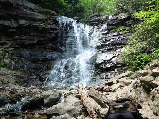 Glen Onoko Falls is a popular hiking trail near Jim Thorpe, Pa.