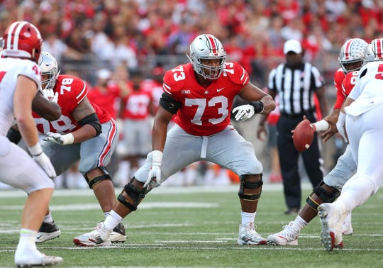 Michael Jordan started on Ohio State's offensive line for three years, including as a true freshman.