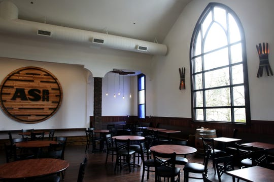 Angel's Share Barrel House in Turner on April 16, 2019. The taphouse and restaurant inside a church built in 1891 is scheduled to open in May.