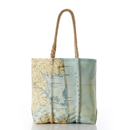 Sea Bags' recently opened Rehoboth shop will soon carry items displaying a map that extends from Rehoboth Beach down through the bays, Long Neck, the Atlantic Ocean and Delaware Seashore State Park.