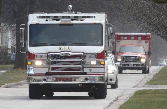 Sheboygan Fire vehicles.