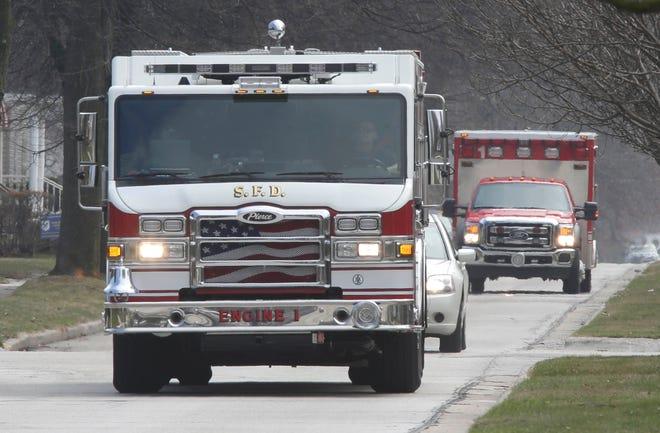 Sheboygan Fire vehicles.
