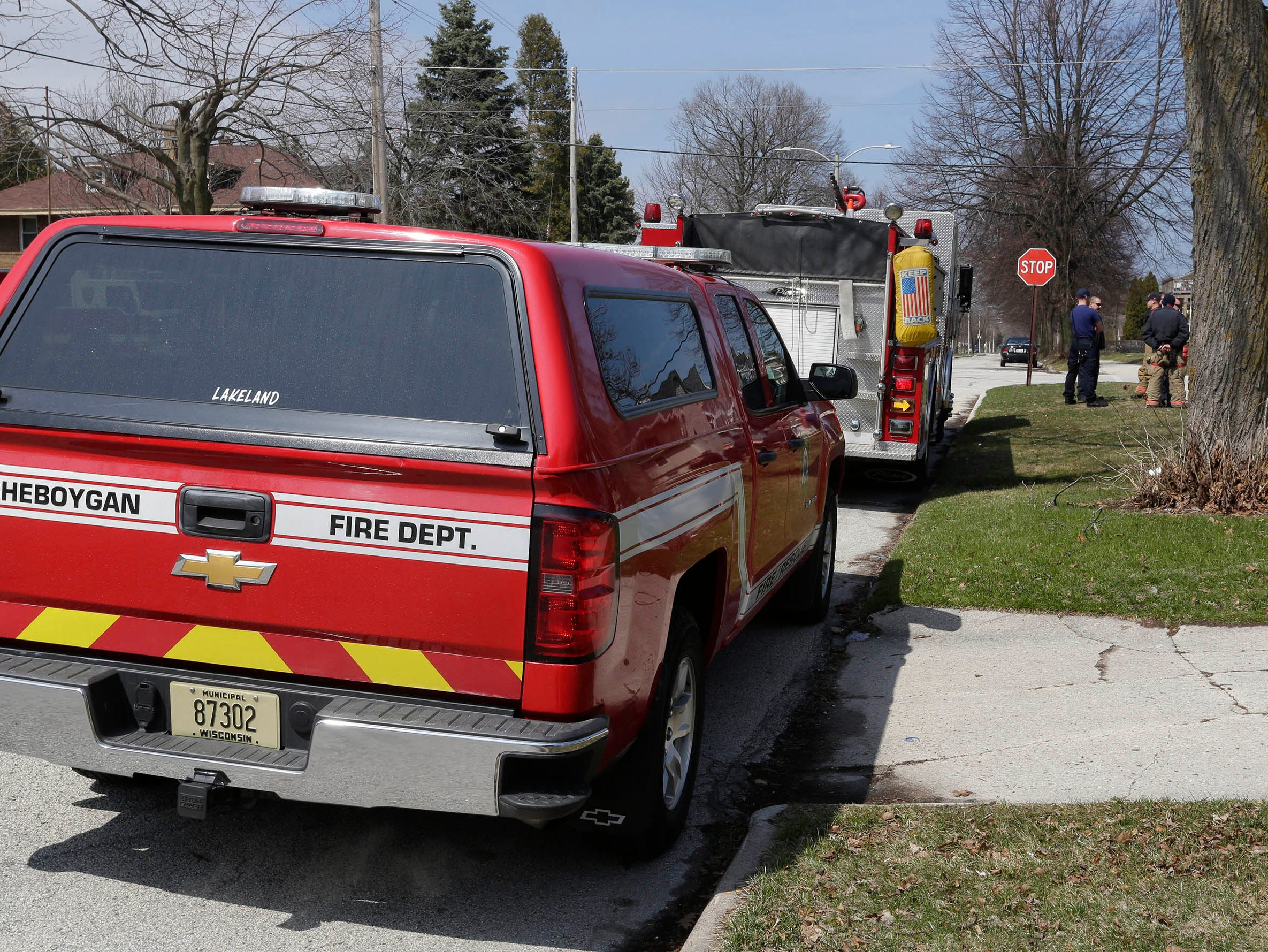 DRILL EXERCISE:  A scene at the training exercise for Sheboygan area emergency agencies, Tuesday, April 16, 2019, in Sheboygan, Wis.