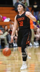 Ipswich senior Kamryn Heinz averaged 18 points, 10 rebounds, four assists and two steals for the Tigers.