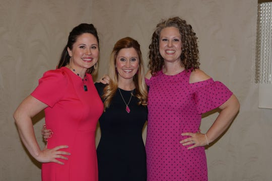 At Springfield's Teacher Appreciation Banquet, Courtney Dameron, far right, poses with Librarians of the Year, from left, Kirsten McFarland and Tatiana Stout. The photo was snapped shortly after Dameron was named the 2019-20 Teacher of the Year.