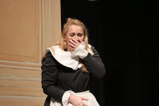 Lee High's Mary Elam won a VHSL outstanding actor award for the one-act play The Lost Folk Tales of Horteus Murk.