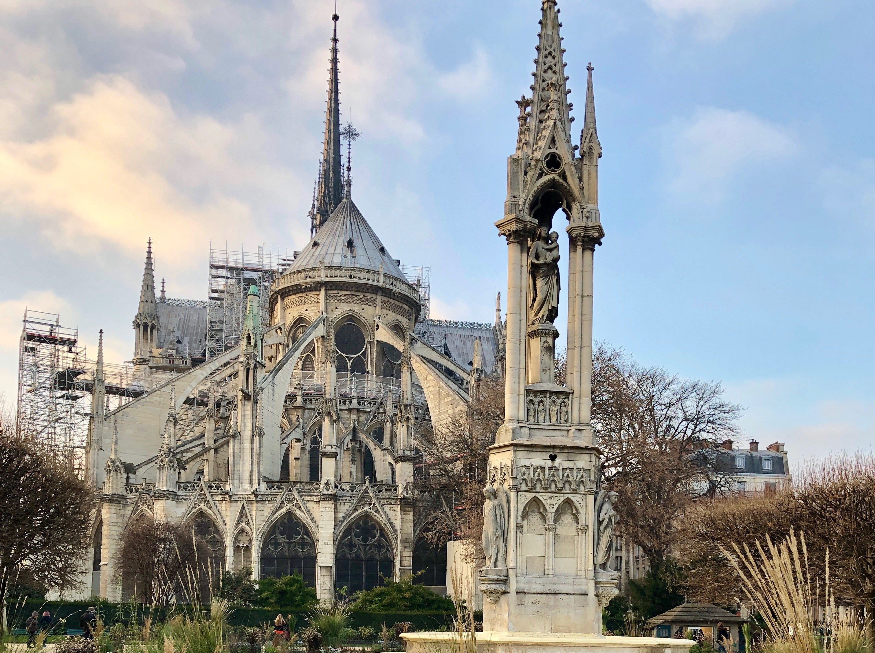 Savannah Kellogg in front of Notre Dame over the holiday break. She's a 2nd grader at Christ Classical Academy and we take her crest all of the world to document where she's taken her school.