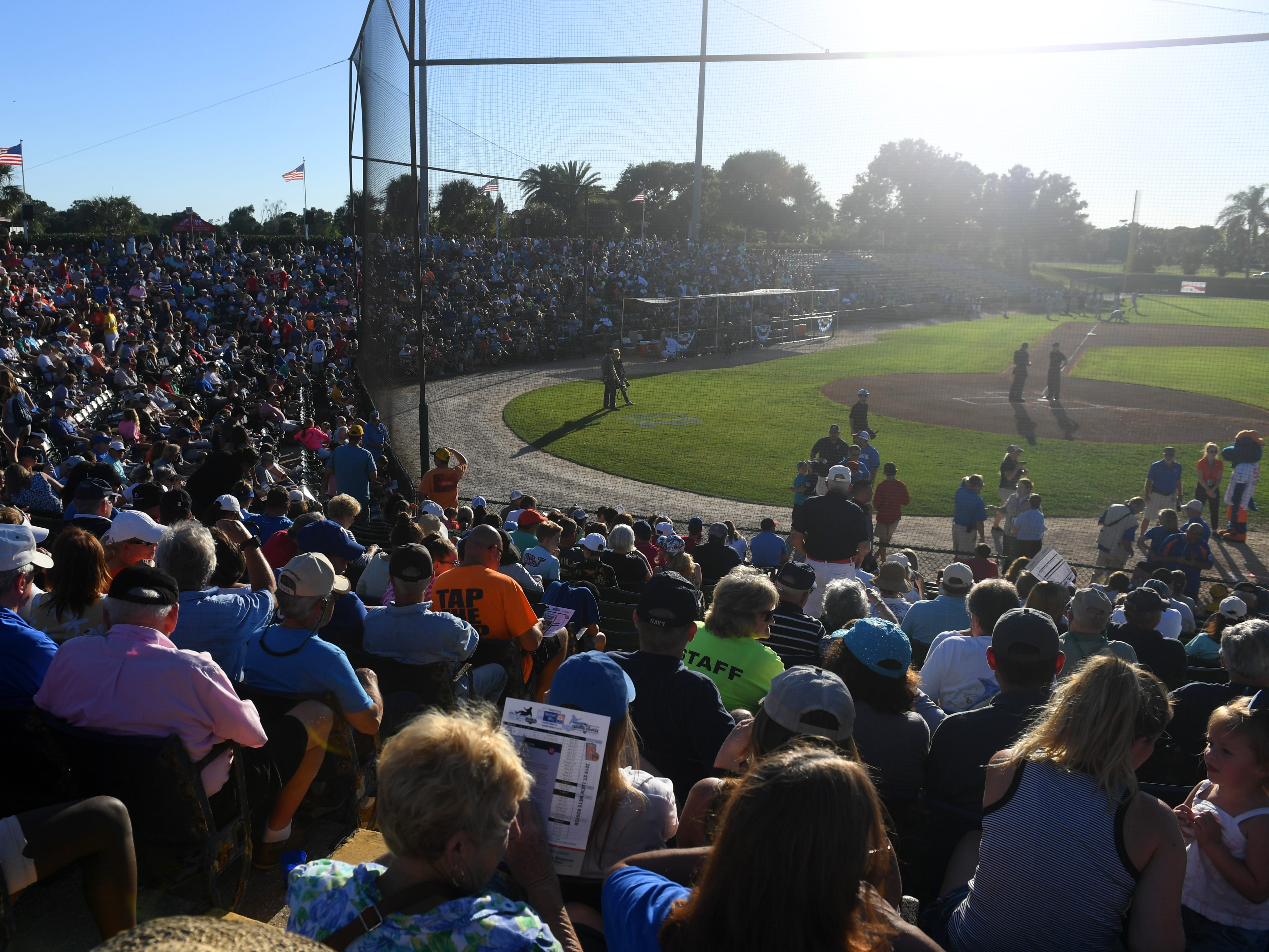 Baseball fans and community members gathered at Holman Stadium on Monday, April 15, 2019 for the 6th annual Jackie Robinson Celebration Game at the Jackie Robinson Training Complex in Vero Beach. Proceeds from the sold out game between the St. Lucie Mets and Fort Myers Miracle went to benefit the United Way of Indian River County.