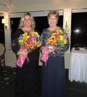 Co-chair Amy Chappel and chair Jeanine Webster at Soroptimist International of Stuart's Women of Distinction Awards Dinner.