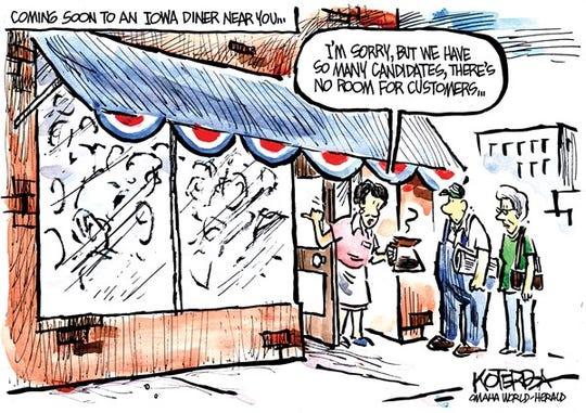 Cartoon: Coming soon to an Iowa diner