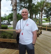 Coach Bob Hurley Sr. recently visited the Hobe Sound branch of the Boys & Girls Clubs of Martin County.