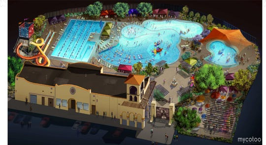 A rendering of the Chapoteo water park to be built in the Lower Valley.