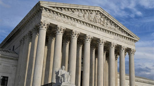 "This is a March 15, 2019, view of the Supreme Court in Washington, D.C. On Monday, April 22, 2019, the Supreme Court will hear ""Food Marketing Institute v. Argus Leader Media"" over whether taxpayer payments to retailers in the food stamp program are public."