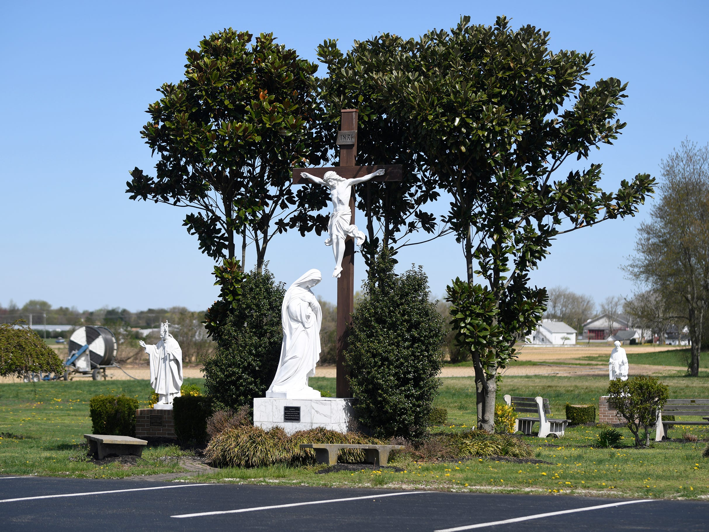 Our Lady of Pompeii Roman Catholic Church in Vineland features many religious structures throughout the property.