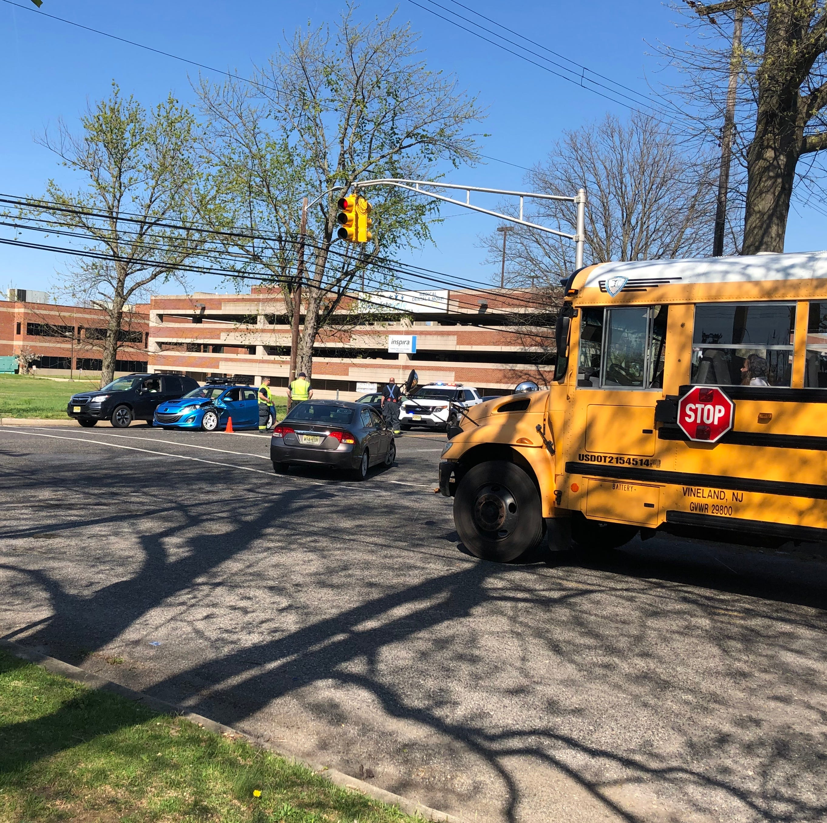 Vineland Police investigating a collision involving a school bus