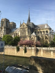 Laura Inzeo, of Yonkers, took this photo of Notre Dame Cathedral in Paris on April 15, 2019. Moments later, as Inzeo and her friends were settling in at a cafe on Ile St. Louis, they smelled smoke.