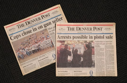 The Denver Post newspapers concerning the Columbine school shooting in April 1999.