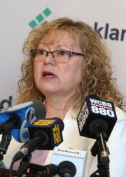 Commissioner of Health Dr. Patricia Schnabel Ruppert discusses new measles exclusion order that mandates anyone with measles to stay home, and those exposed stay out of public spaces throughout Rockland county, April 16, 2019 in New City.