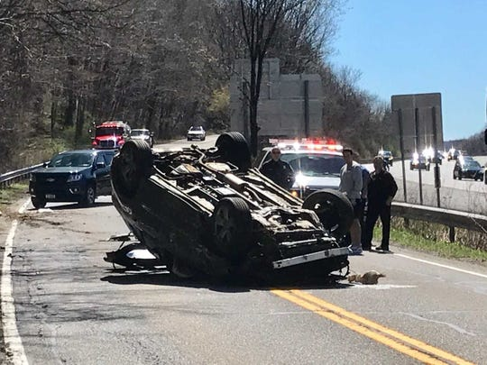 An accident on Route 22 in Purdys sent at  least one person to the hospital.