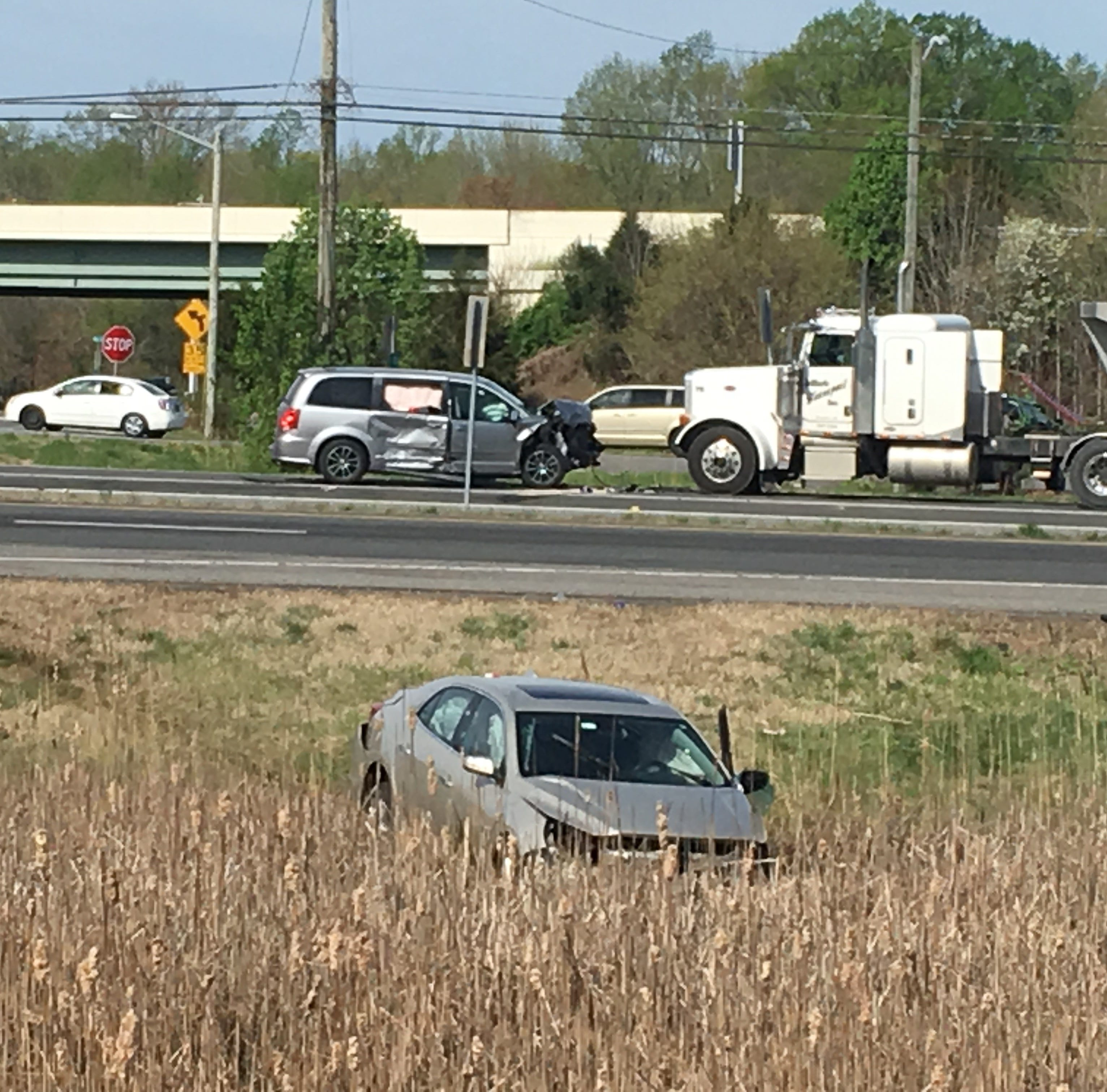 Woman seriously injured in three-vehicle crash that closed U.S. 13 in Townsend
