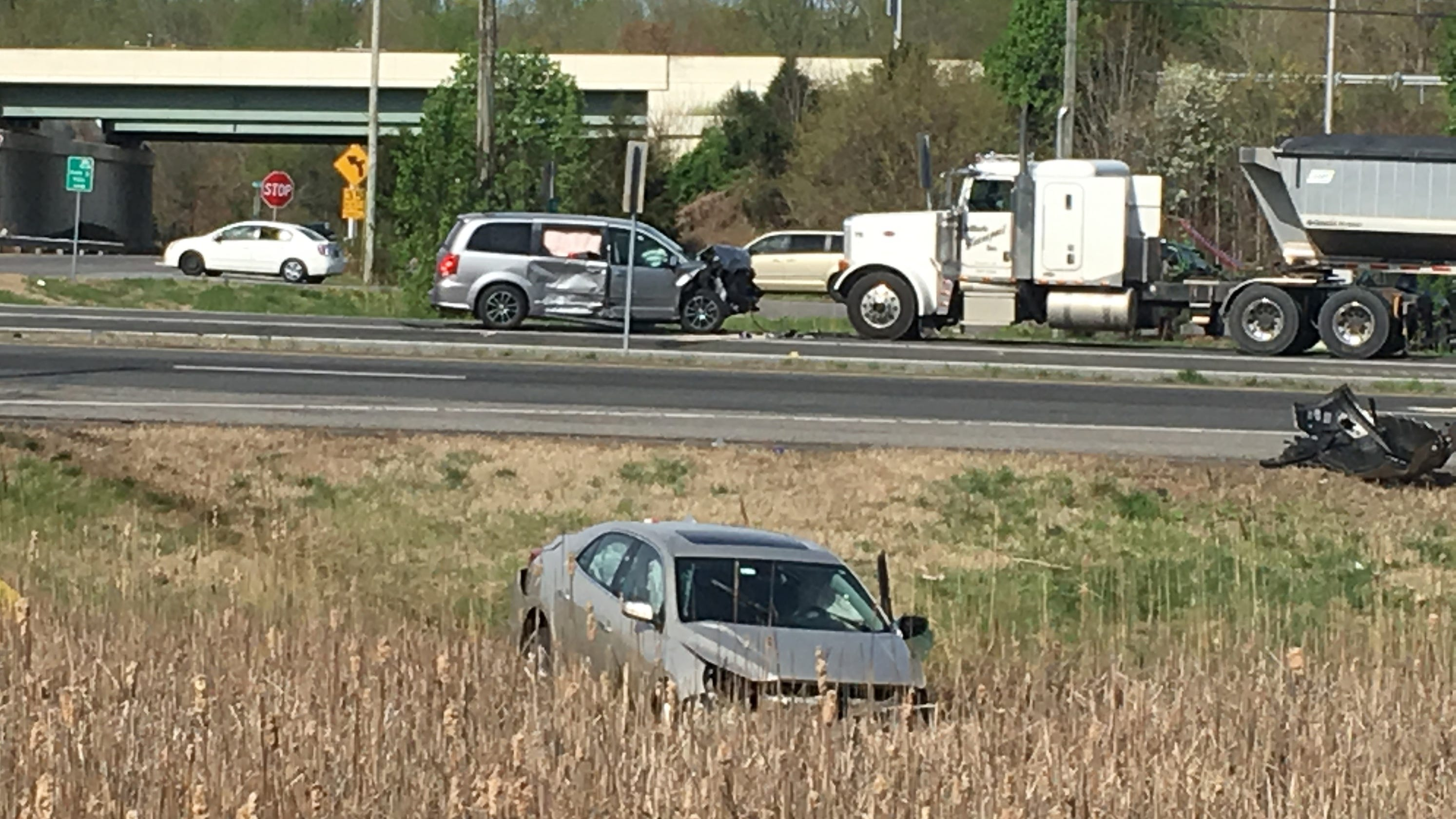 Woman seriously injured in three-vehicle crash that closed U S  13