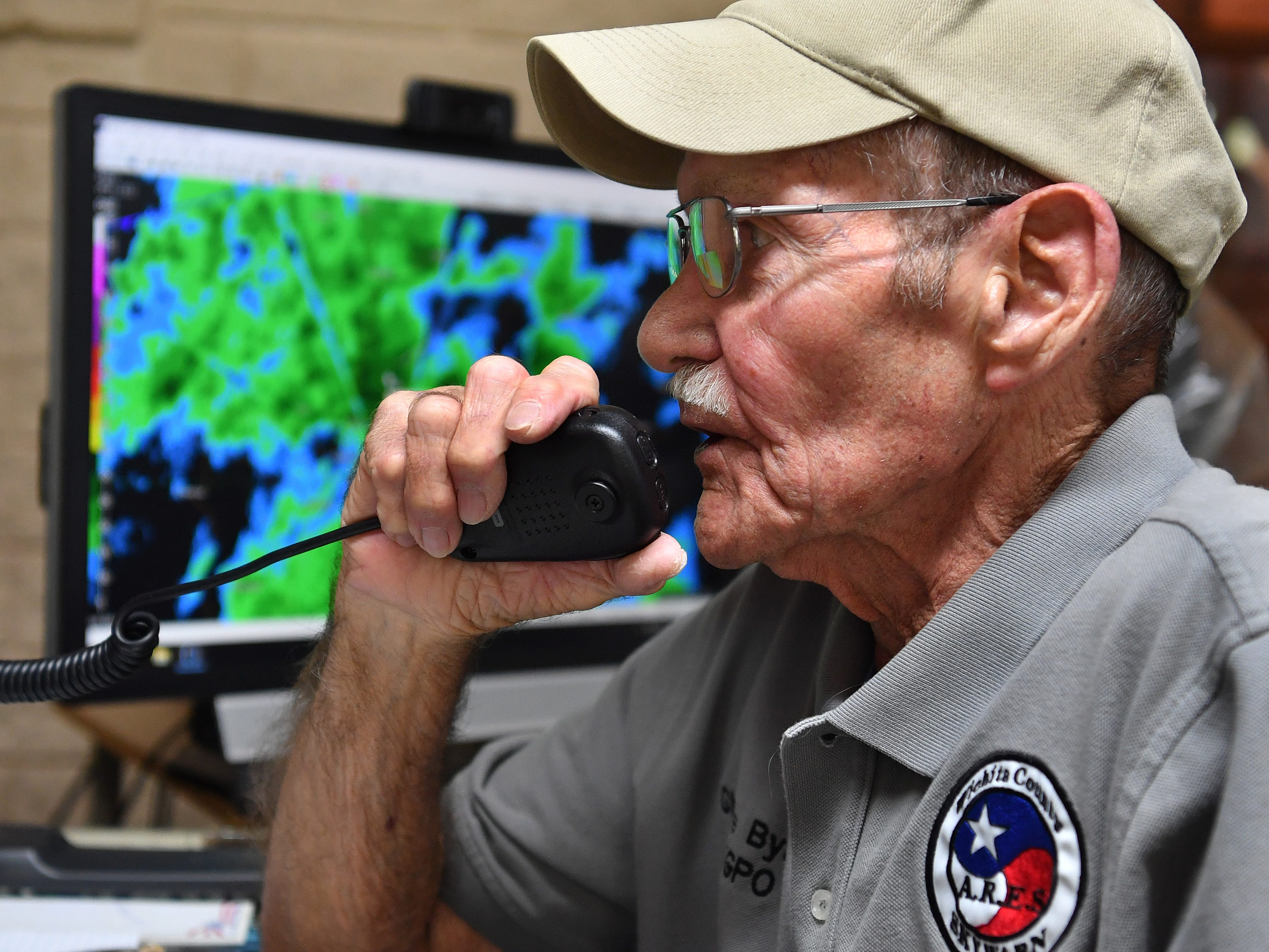 Charlie Byars has been honing his skills as a weather spotter and licensed ham radio operator since the late 1950s. He is the official coordinator for the network of severe weather spotters in the area.
