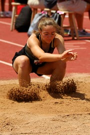 Abby Zamzow placed sixth in state last year in the 3A triple jump.