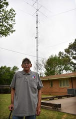 Ham radio operator Charlie Byars has a large antenna tower at his home in southern Wichita Falls where he coordinates SkyWarn weather spotters from on the Amateur Radio Emergency Service or A.R.E.S network.