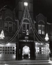 Central Station was built in downtown Zanesville in 1890. This TR photo of the building was taken around Christmas in 1959.