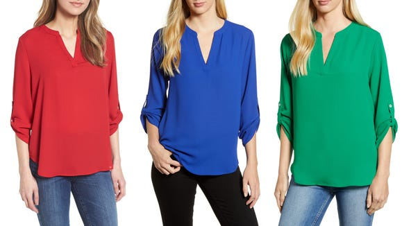 These are just three of the many colors this adorable top comes in.