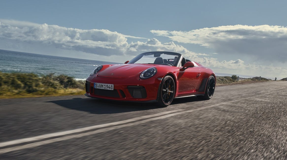 Porsche's 911 Speedster is going into production. The car showed its face at the New York Auto Show.