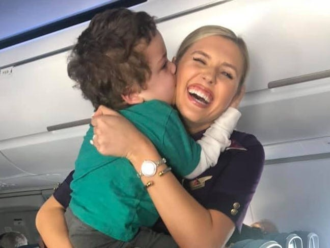 Mom says Delta flight attendant's 'aura of love' calmed her son with special needs