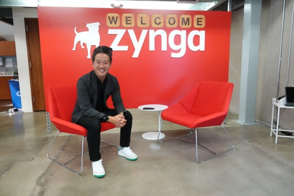 Bernard Kim, president of publishing for Zynga, at Zynga offices in Los Angeles