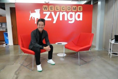 Bernard Kim, president of publishing for Zynga, at Zynga offices in Los Angeles