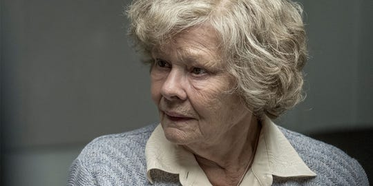 "Judi Dench stars as an ordinary woman who shocks the world when she is accused of spying for the Russians in ""Red Joan."" (Photo: 1996-98 AccuSoft Inc., All rights reserved)"