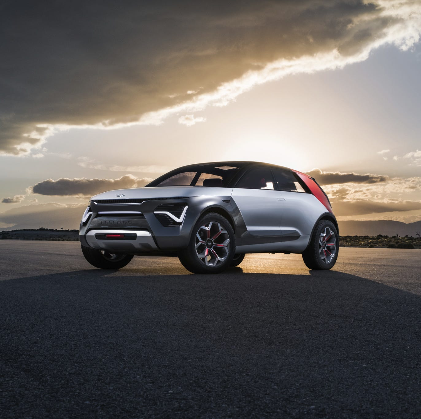 "Imagined and created at Kia's California design studio, the company calls it ""The Everything Car."""