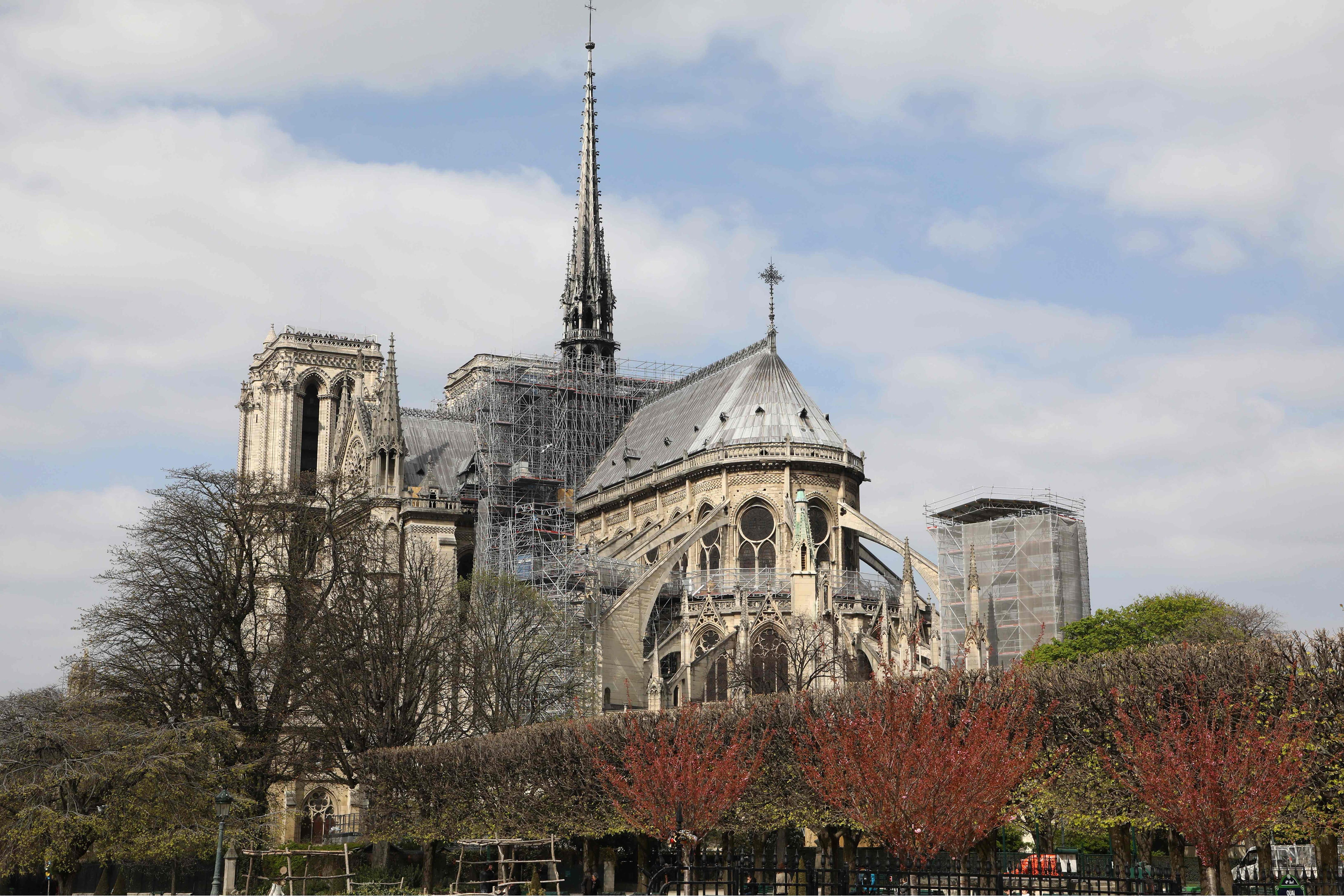 Notre Dame Cathedral Before After And During Blaze